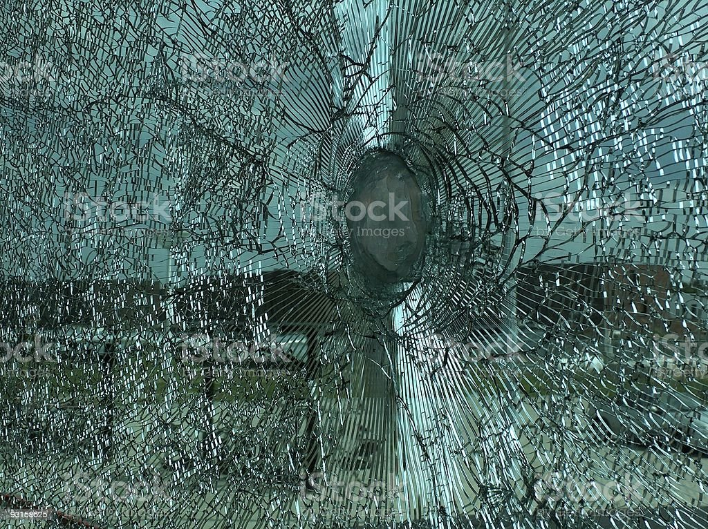 shattered glass 3 stock photo