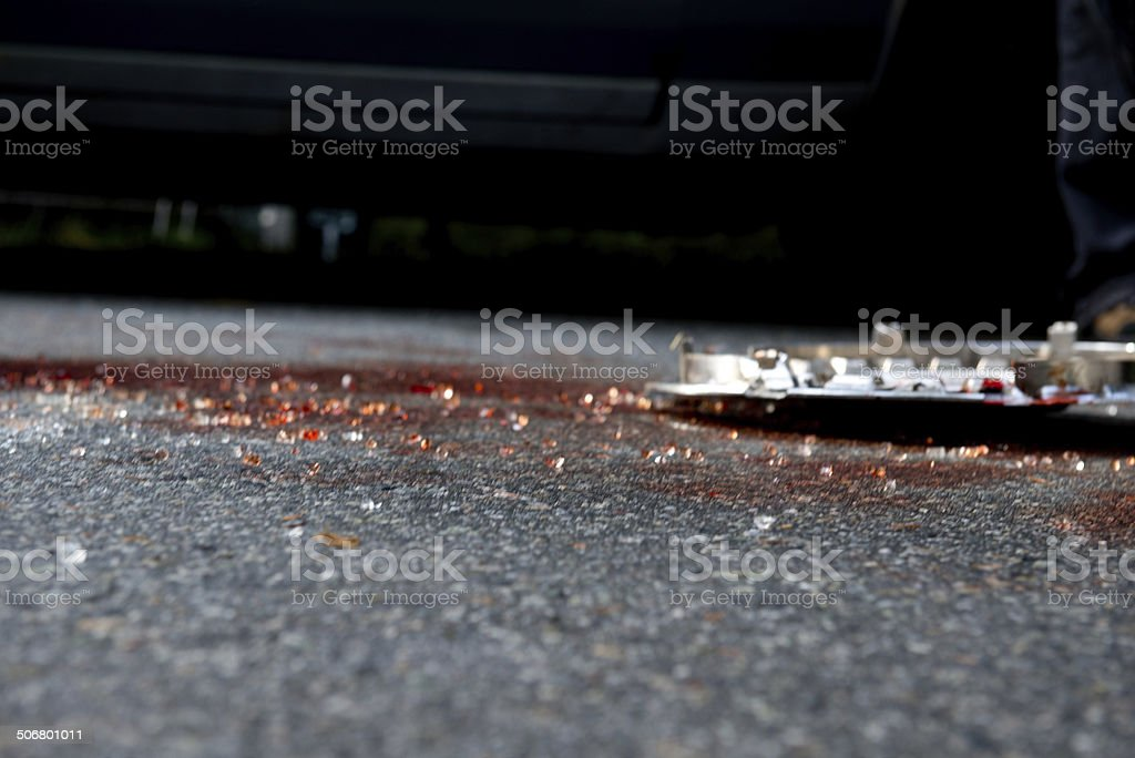 Shattered Glass after a Crash stock photo