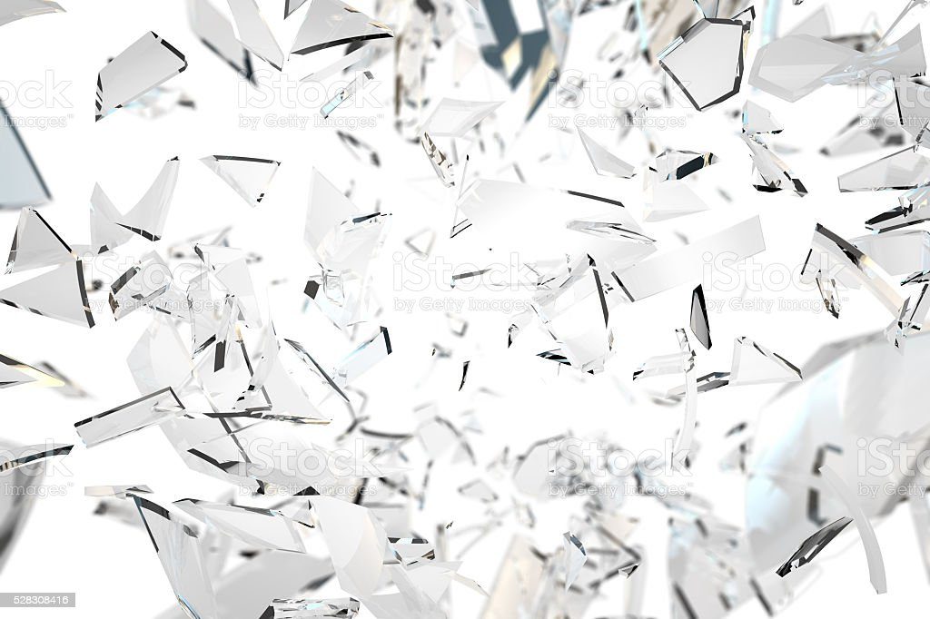 Shattered glass background stock photo