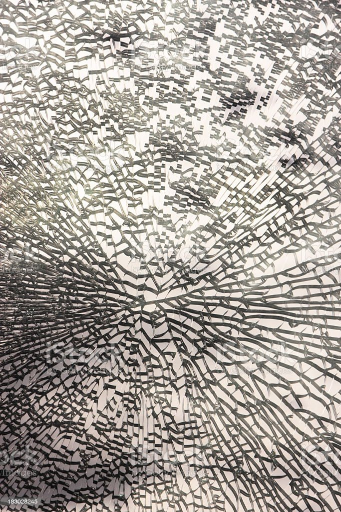 Shattered Glass Window Abstract Pattern stock photo