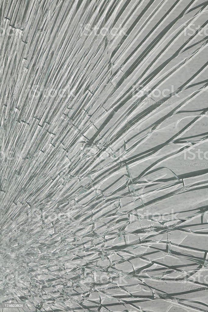 Shattered Glass Window Background and Texture royalty-free stock photo