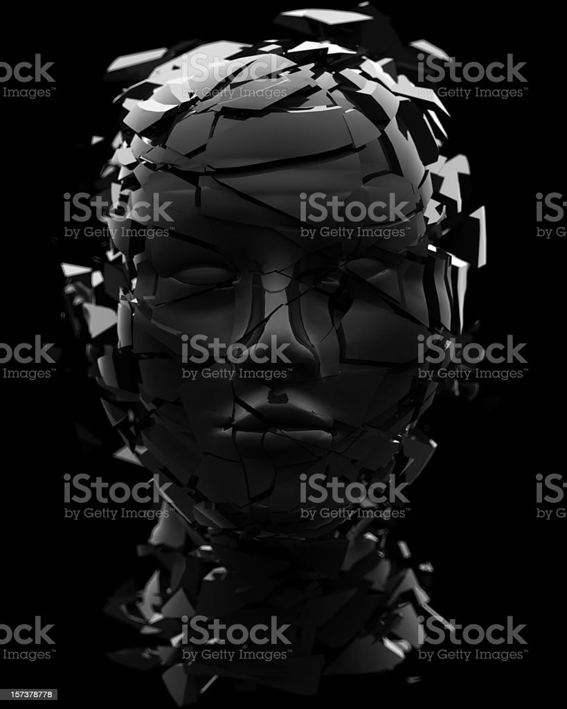 shattered head royalty-free stock photo