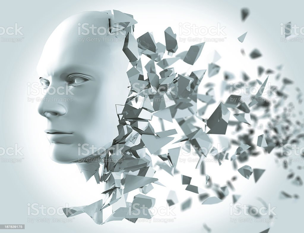Shattered Head side view stock photo