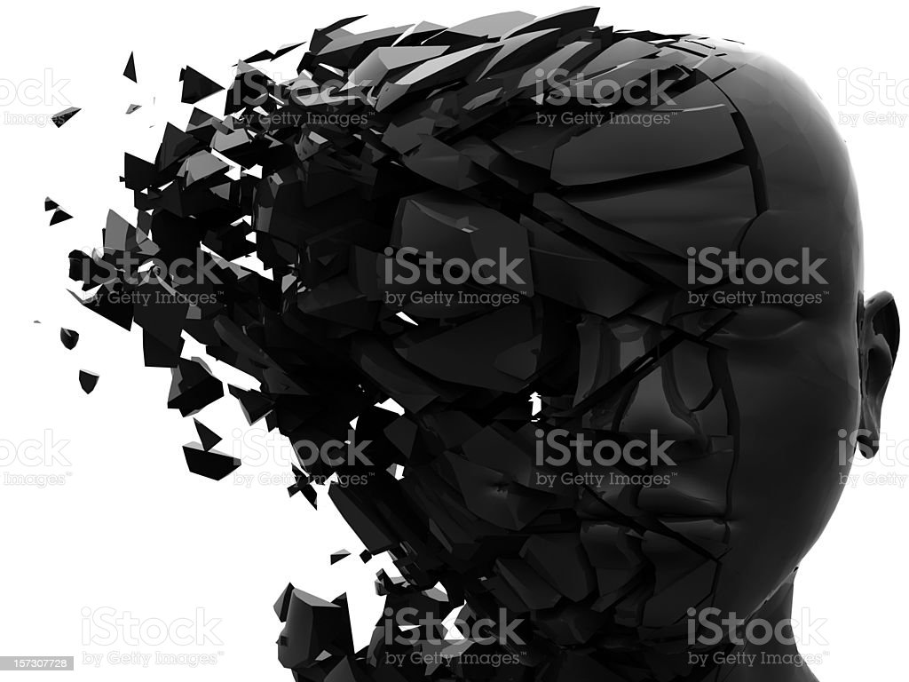 shattered mind #3 stock photo