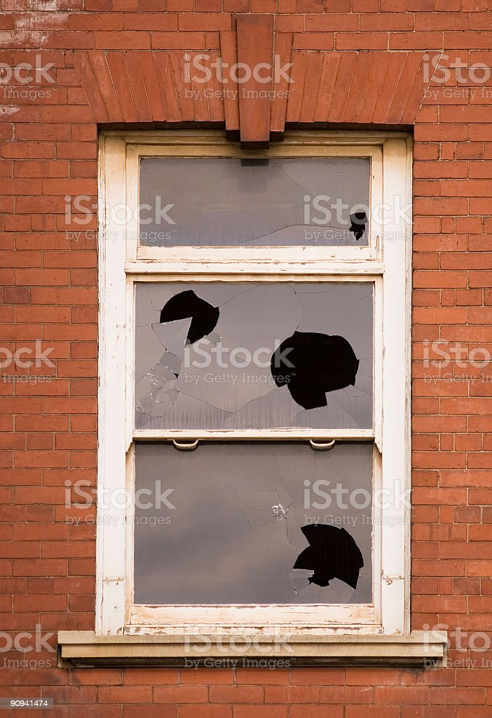 Shattered panes royalty-free stock photo
