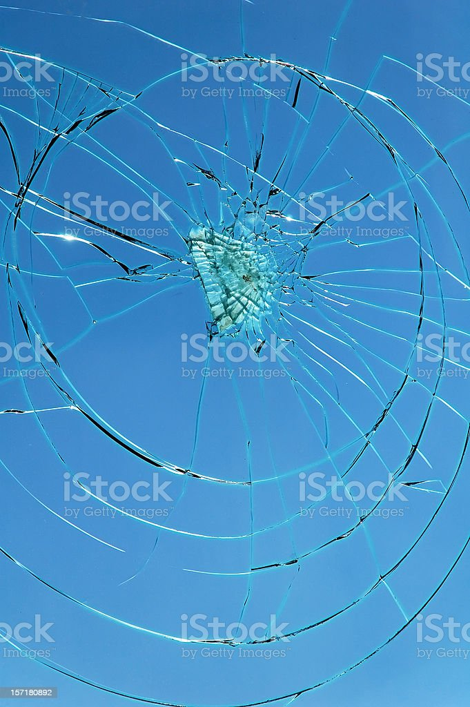shattered royalty-free stock photo