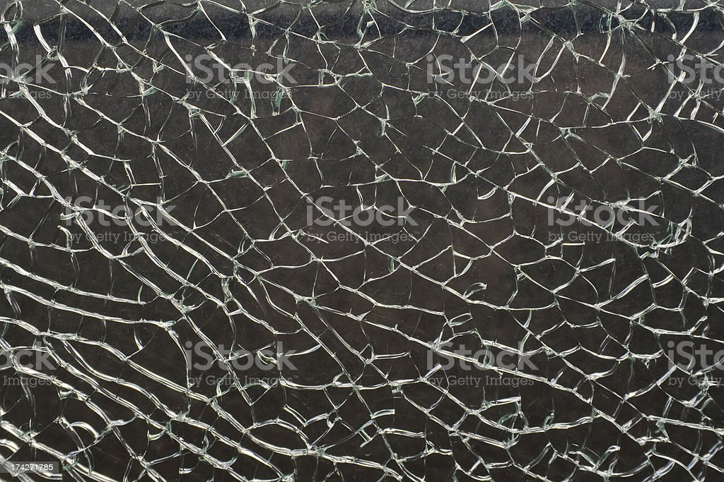 Shattered safety glass royalty-free stock photo