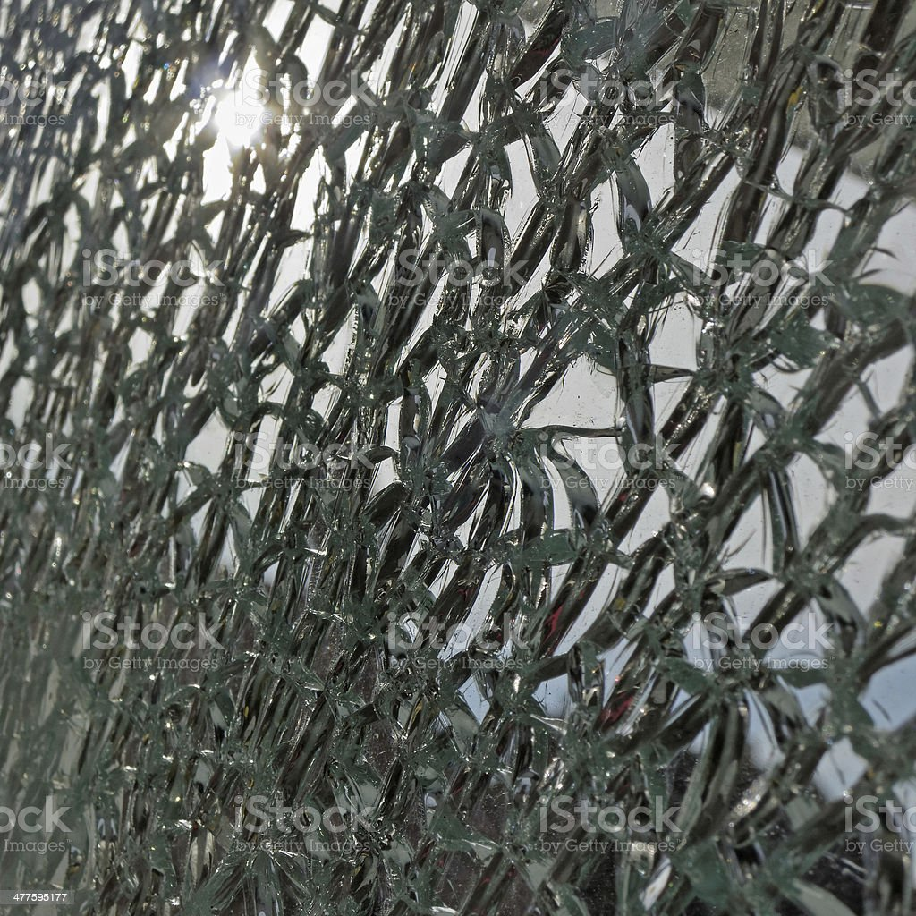 shattered security glass royalty-free stock photo