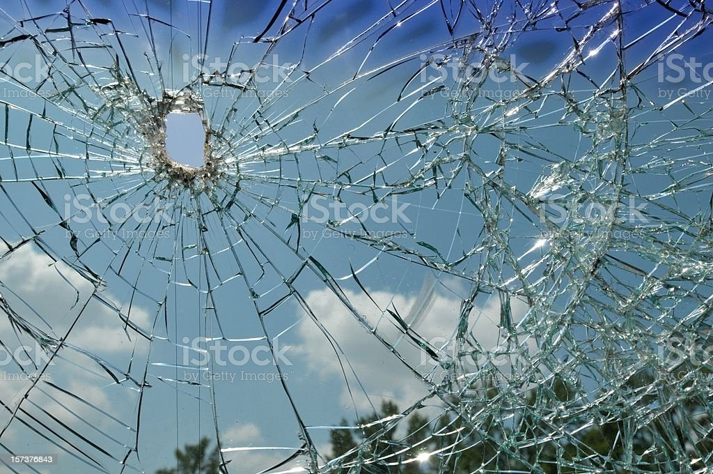 Shattered Windshield royalty-free stock photo