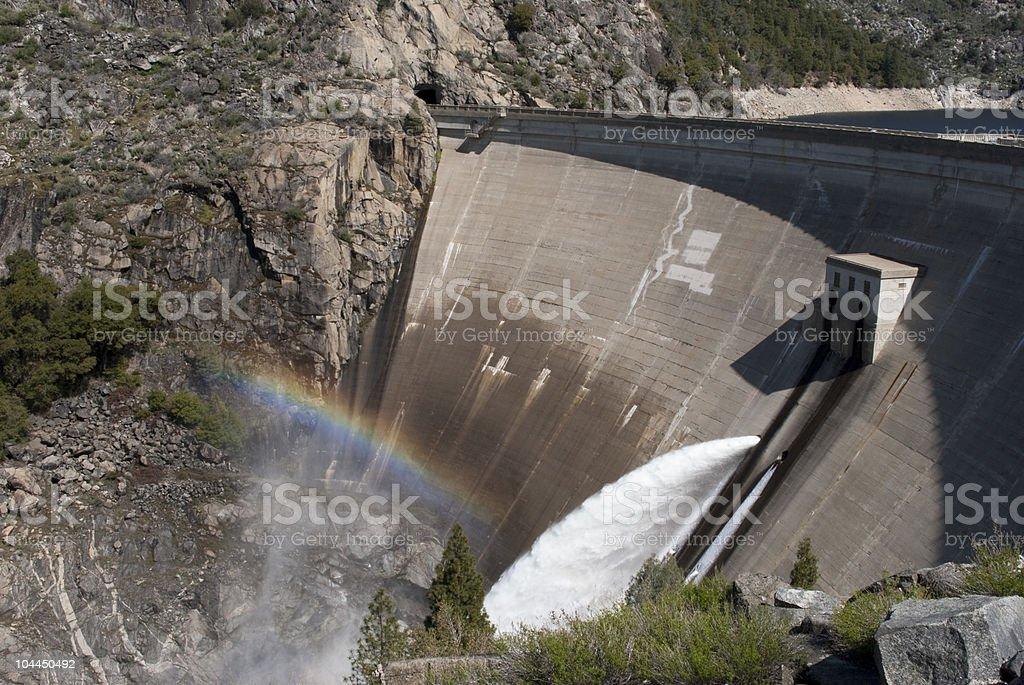 O'Shaughnessy Dam royalty-free stock photo