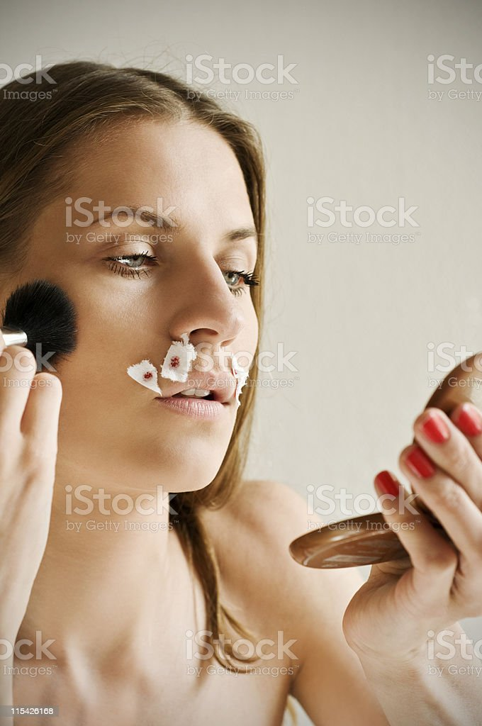 shave cut royalty-free stock photo