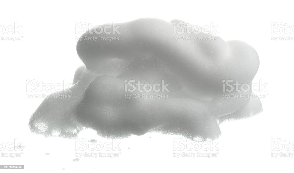 Shave foam (cream)  isolated on white stock photo