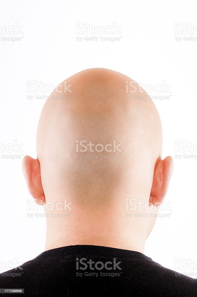 Shaved hair stock photo