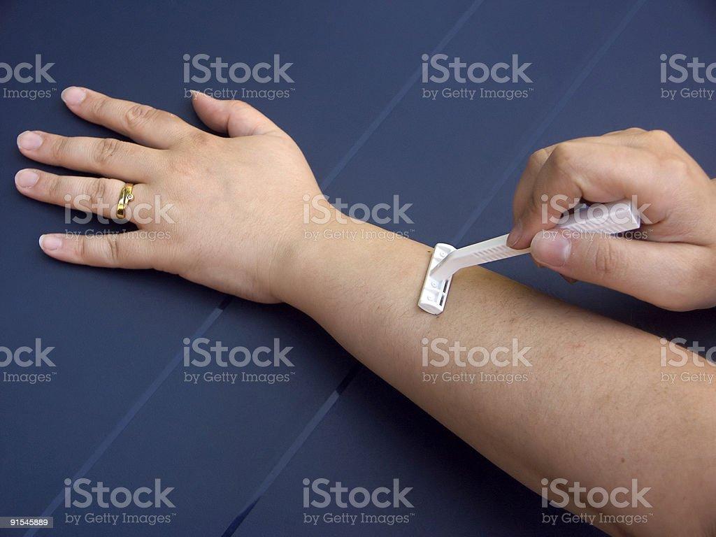 shaving armhair royalty-free stock photo