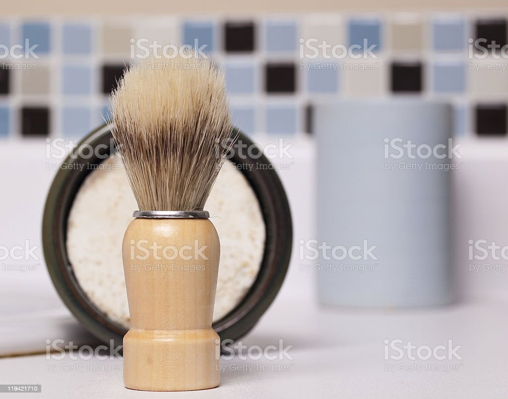 Shaving Brush stock photo