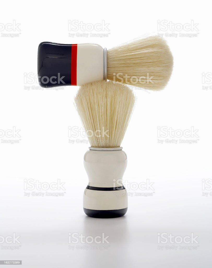 Shaving Brushes (classic) royalty-free stock photo
