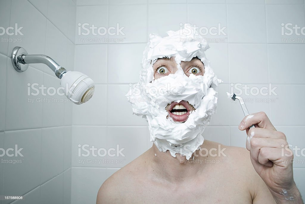 Shaving Cream Disaster royalty-free stock photo