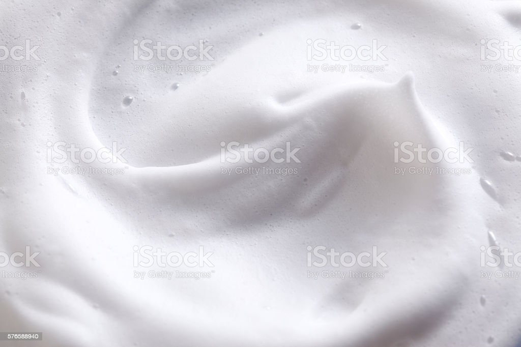 Shaving cream stock photo