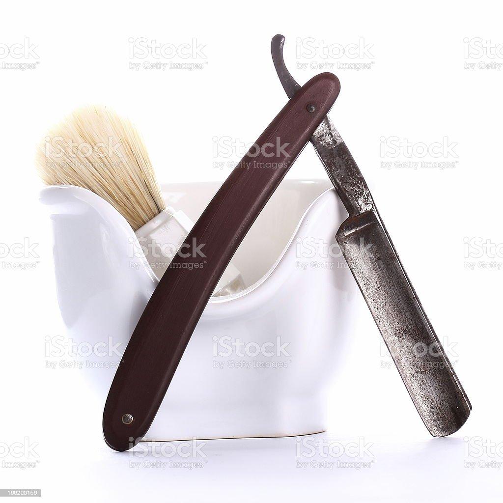 shaving equipment on white stock photo