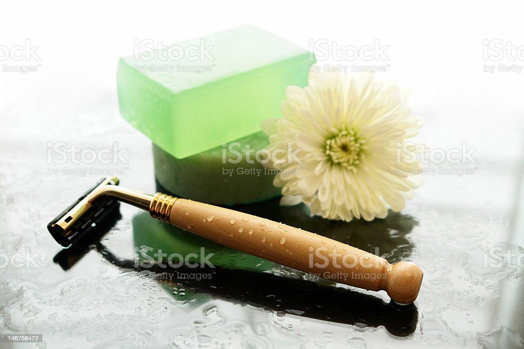 shaving essentials stock photo