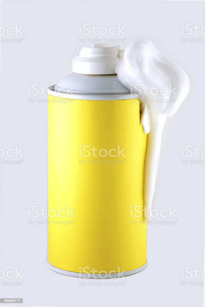 Shaving foam can stock photo