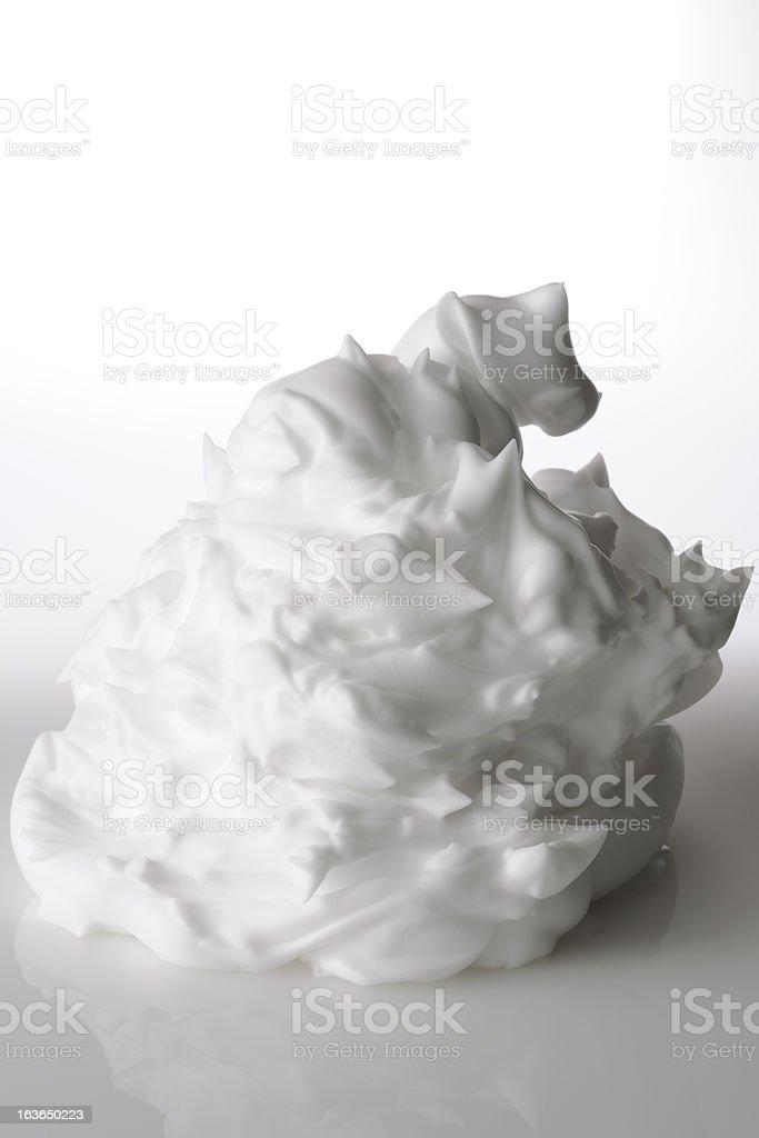 Shaving Foam on white background royalty-free stock photo