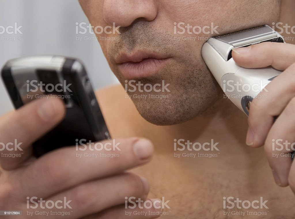 Shaving Message royalty-free stock photo