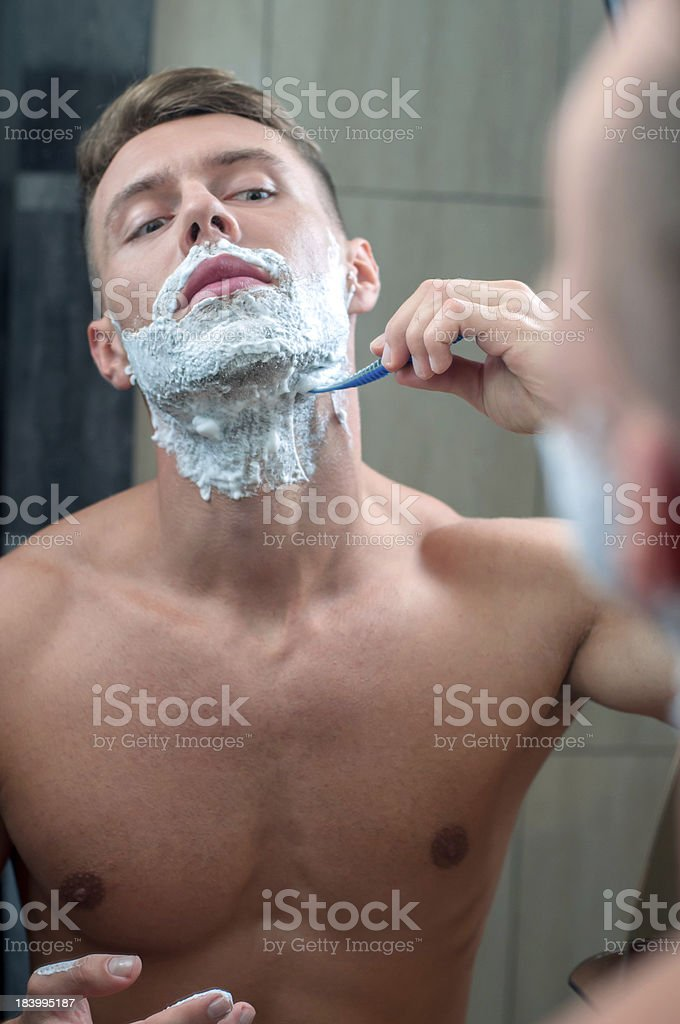 Shaving royalty-free stock photo