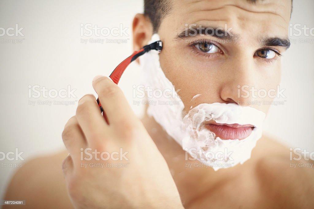 Shaving. stock photo