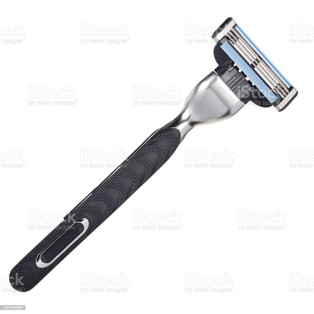 Shaving razor stock photo