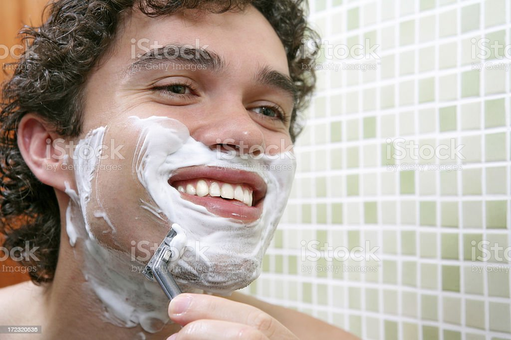 Shaving  series royalty-free stock photo