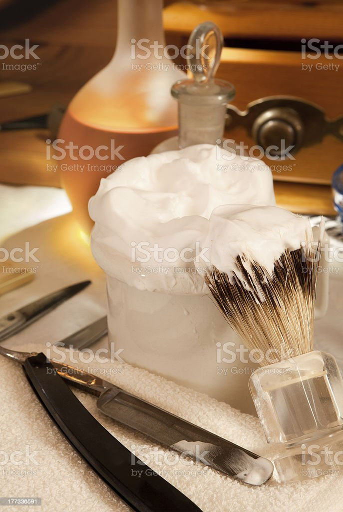 Shaving soap royalty-free stock photo