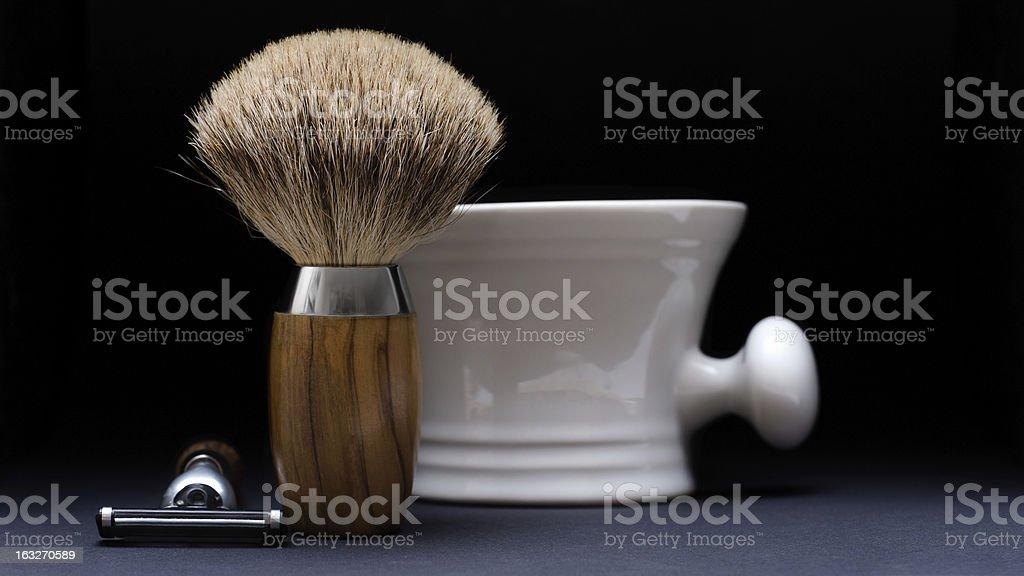 Shaving Tools on black Background stock photo