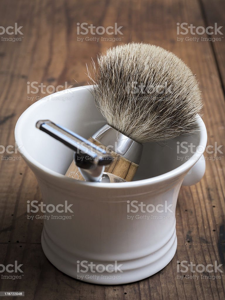 Shaving Tools, vintage stock photo