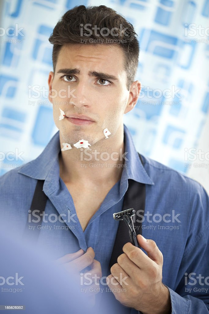 shaving wounded royalty-free stock photo