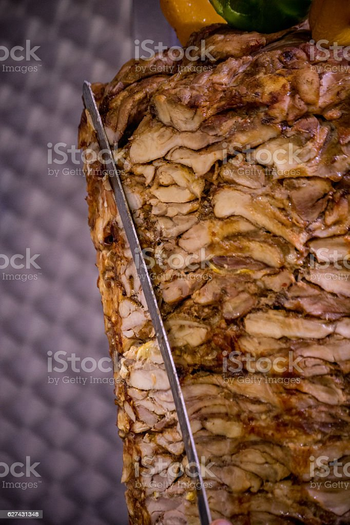 Shawarma Kebab Meat stock photo
