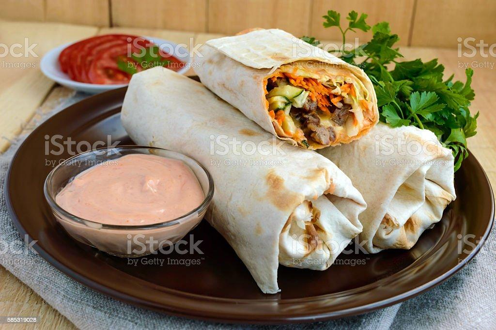 Shawarma - Middle East (Arabic) stock photo