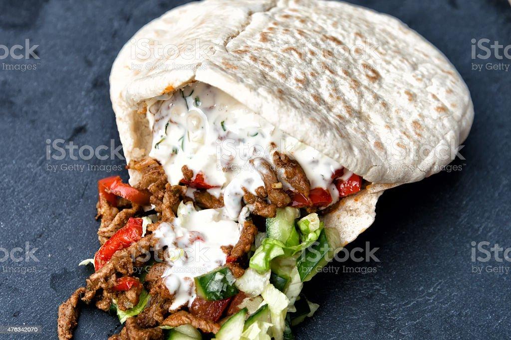 Shawarma stock photo