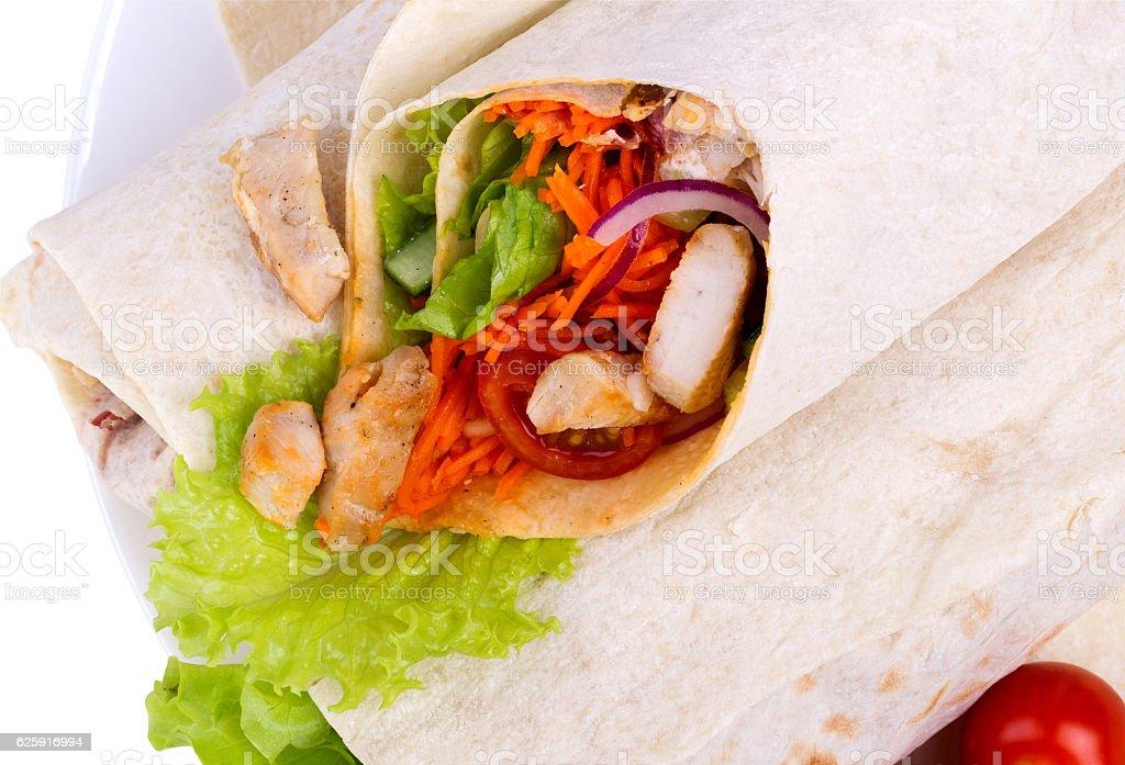 Shawarma with meat stock photo