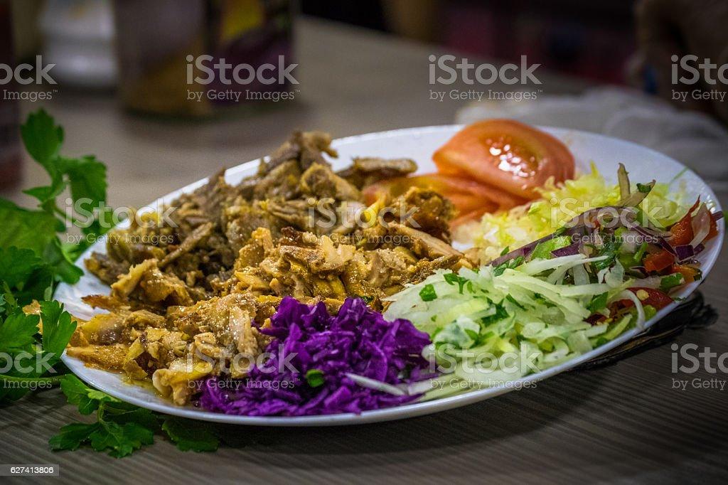 Shawarma With Salad stock photo