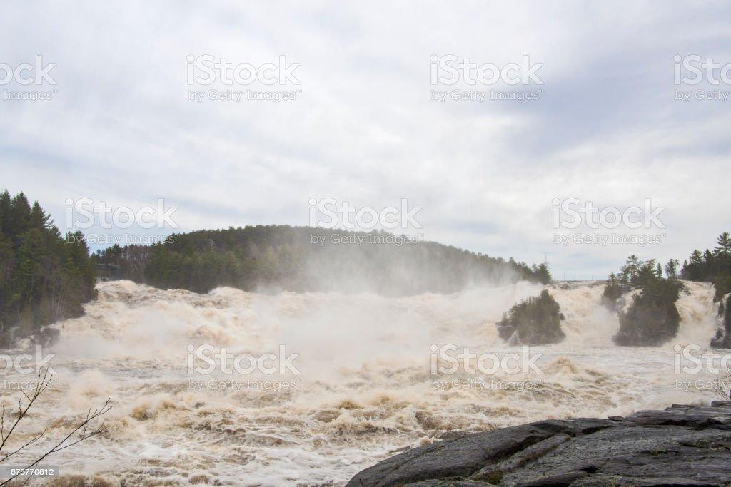 Shawinigan Waterfall stock photo