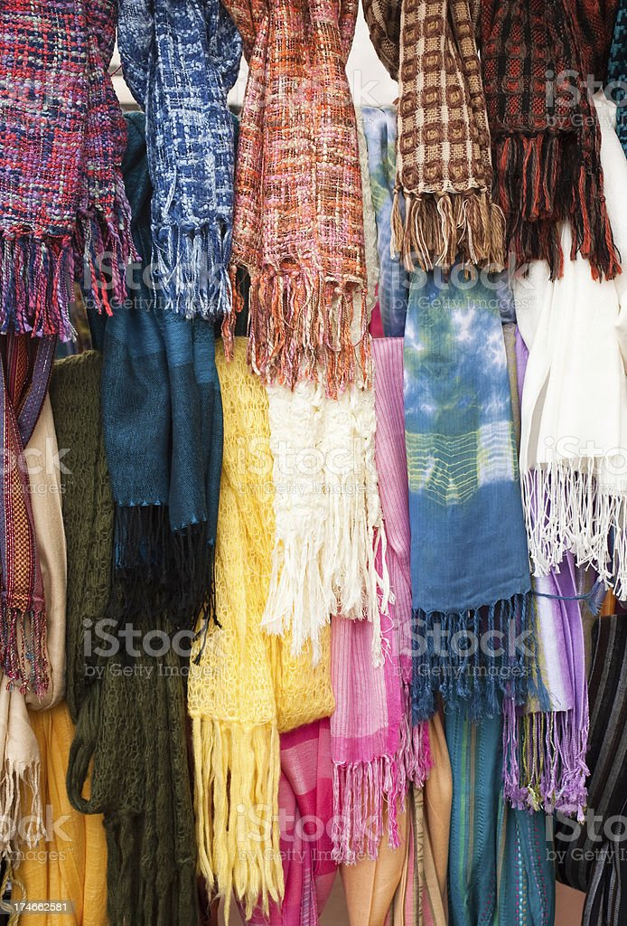 shawls and scarves royalty-free stock photo