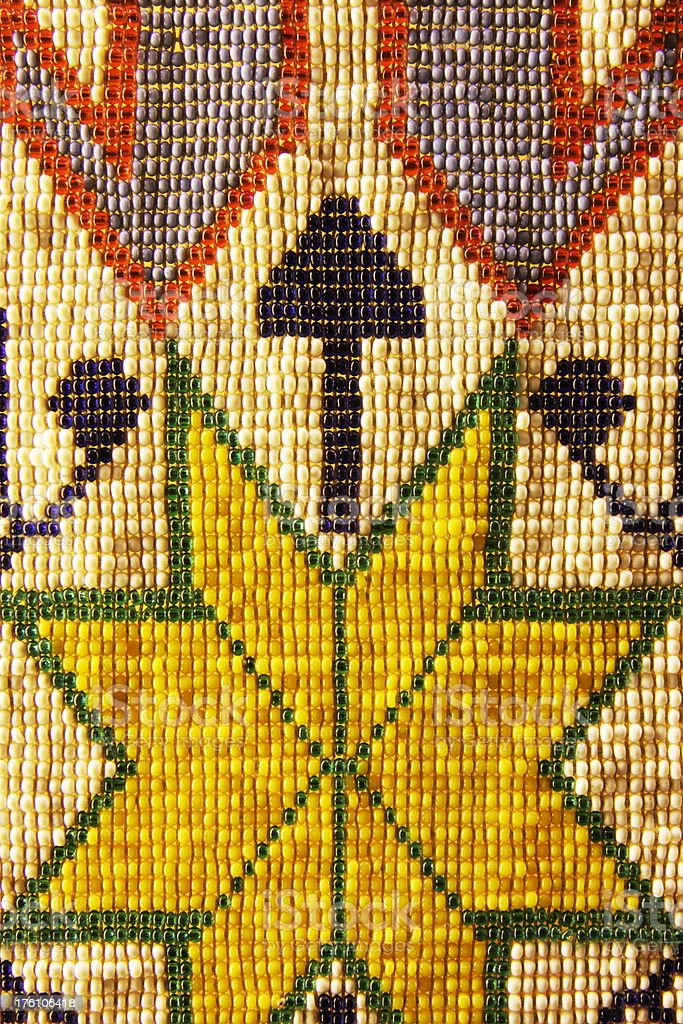 Shawnee Indian Bead Artwork 1830s royalty-free stock photo