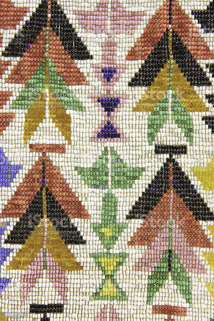 Shawnee Indian Bead Craft Artwork stock photo