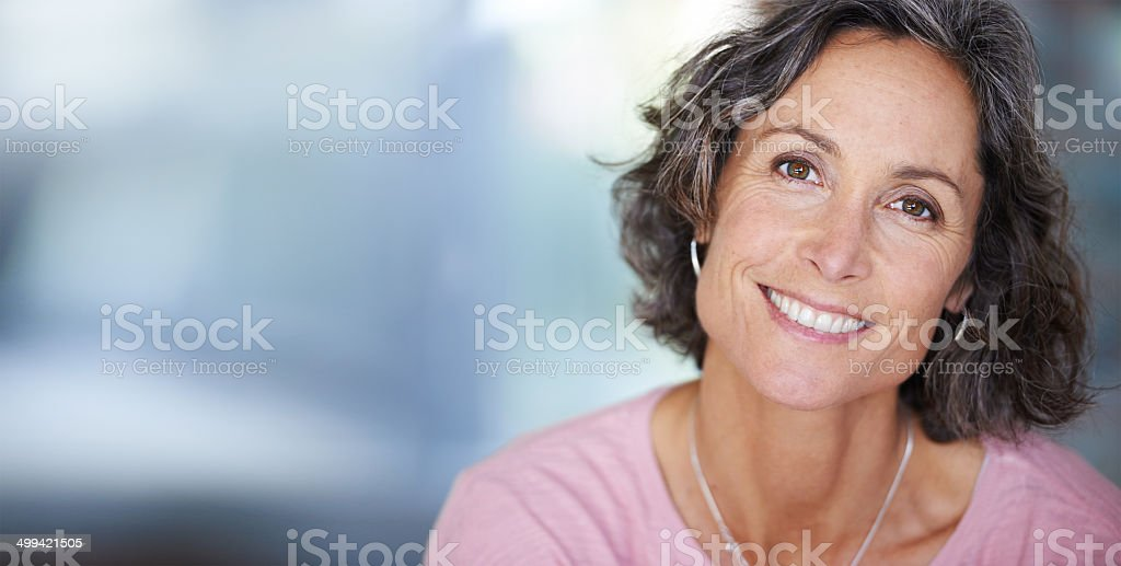 She always shines with elegant beauty stock photo