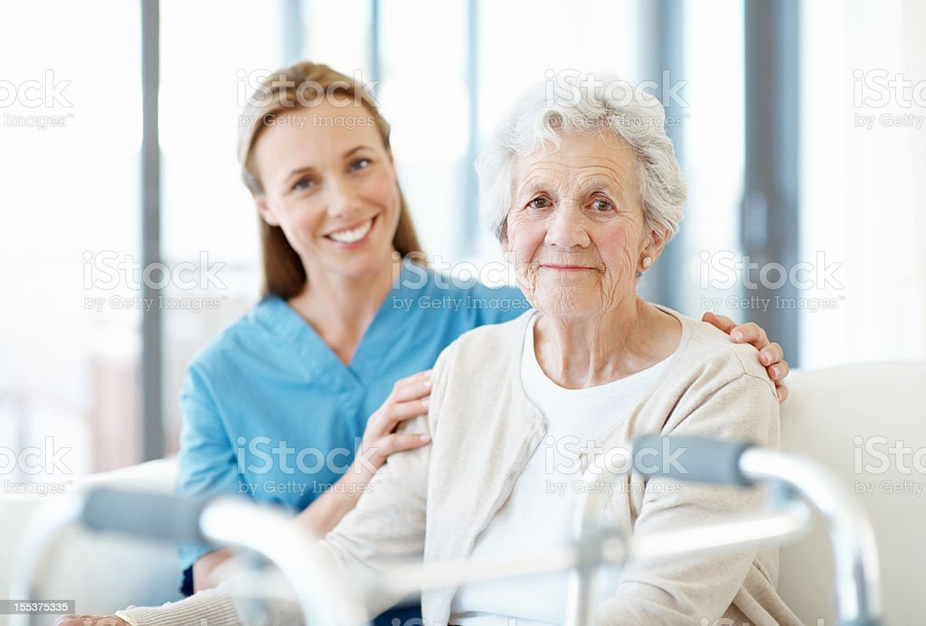 She appreciates her company and dedicated care royalty-free stock photo