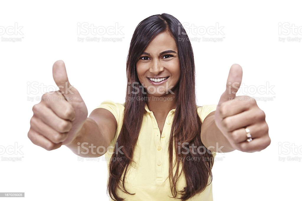 She approves of your decision royalty-free stock photo