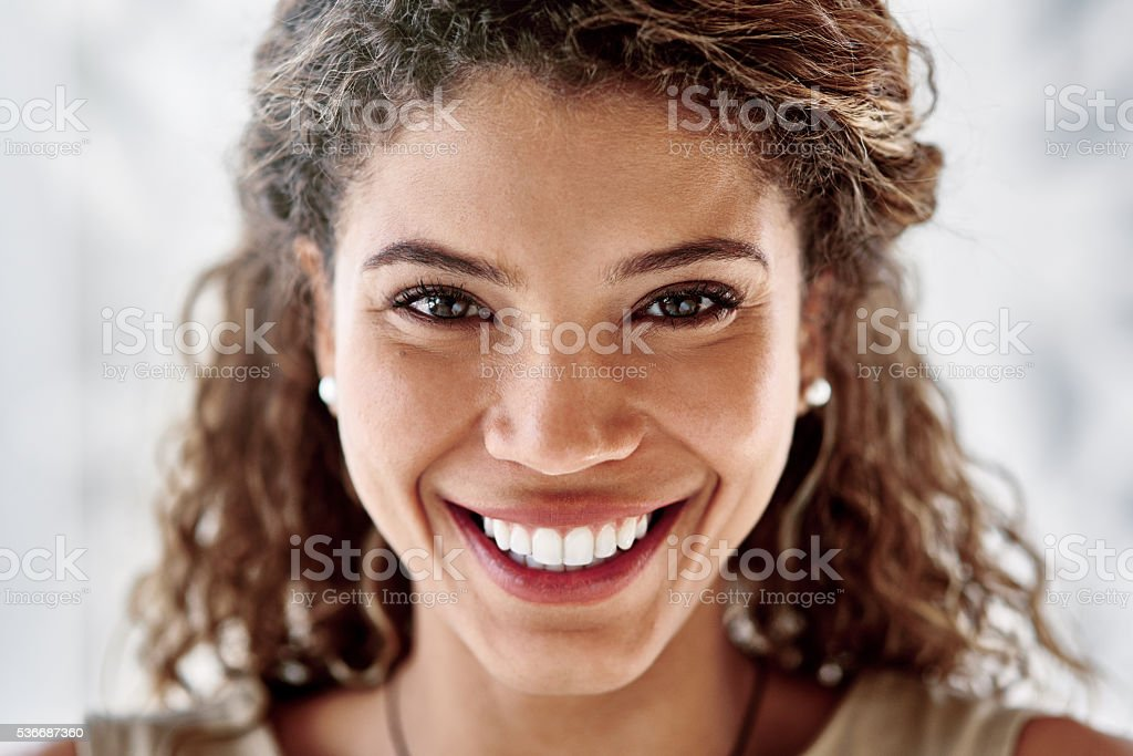 She believes in her ability to succeed stock photo