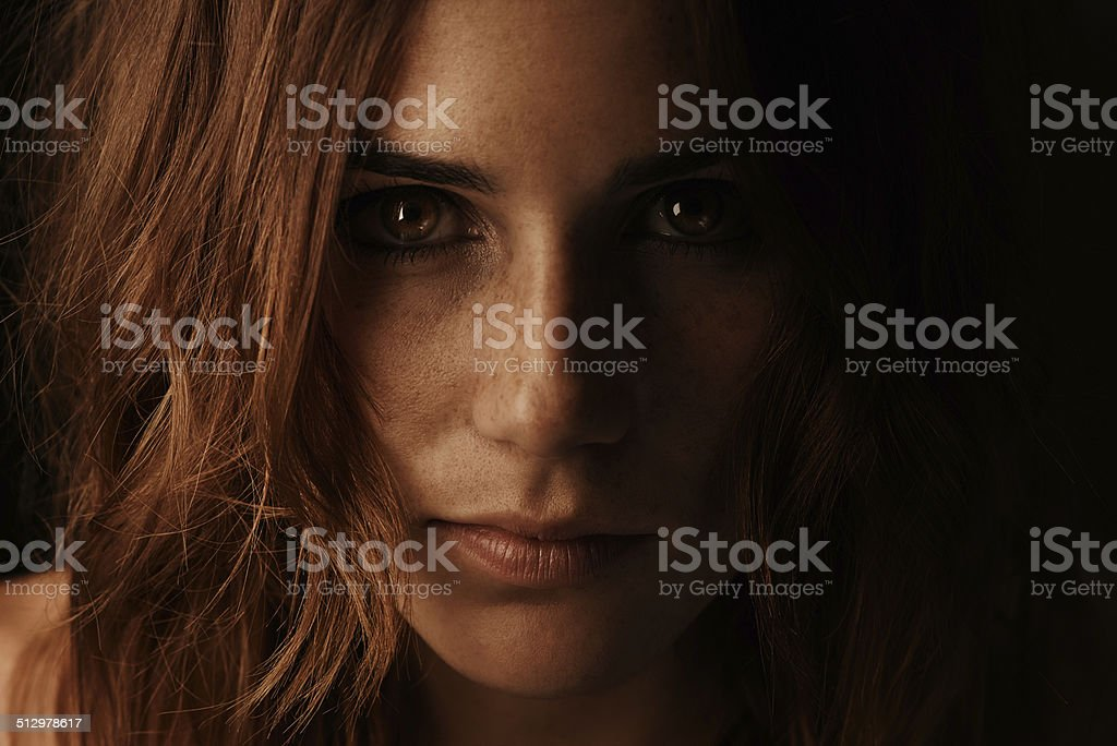 She can light up the darkness stock photo