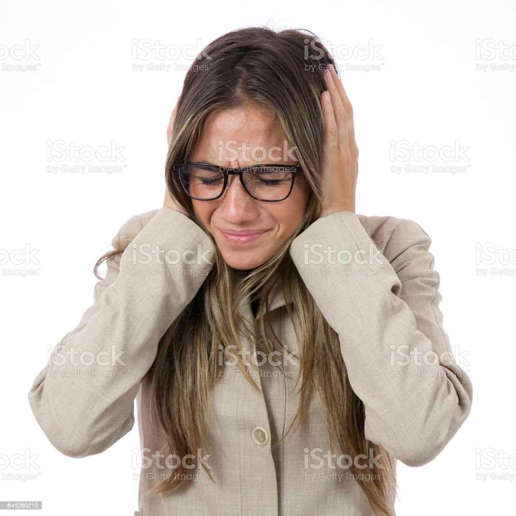 She Can't Take Anymore stock photo